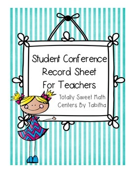 Student Conference Notes for Teachers