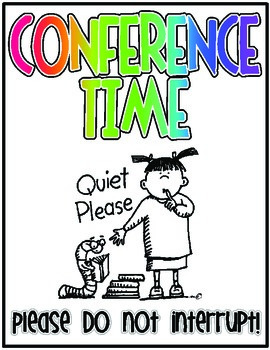 Student Conference Posters- FREEBIE- Reader's and Writer's Workshops