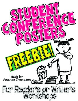 Student Conference Posters- FREEBIE- Reader's and Writer's