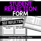 Student Conference Reflection Form Notes