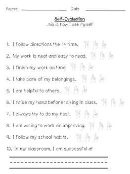 Student Conference Self Evaluation