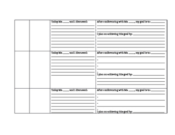 Student Conference and Goal Setting Sheet