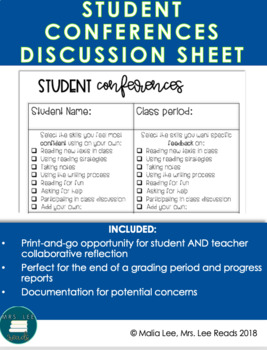 Student Conferences Discussion Sheet