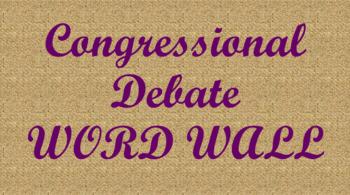 Student Congress / Congressional Debate Word Wall- Burlap Template