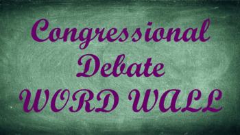 Student Congress / Congressional Debate Word Wall- Chalkboard Template