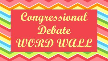 Student Congress / Congressional Debate Word Wall- Chevron Template