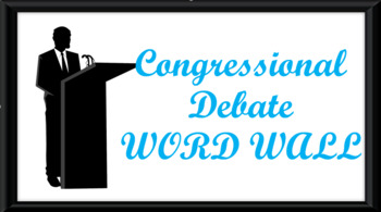 Student Congress / Congressional Debate Word Wall- Podium Template