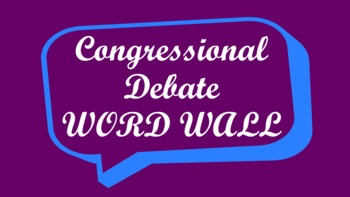 Student Congress / Congressional Debate Word Wall- Speech Bubble Template