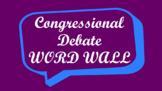 Student Congress / Congressional Debate Word Wall- Speech