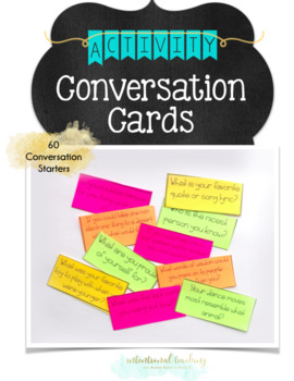 Student Connection Activity: Conversation Starter Cards