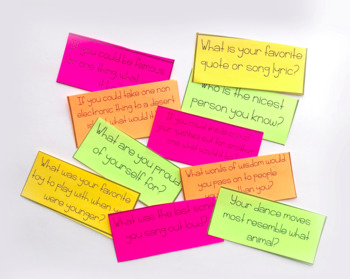 First Day of School Activity: Conversation Starter Cards