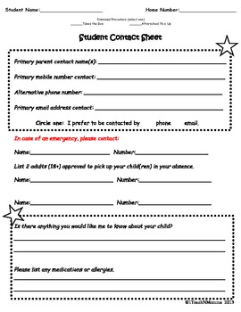 Student Contact Form