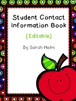 Student Contact Information Book {Editable)