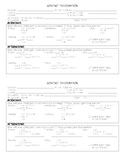 Student Contact Information Card