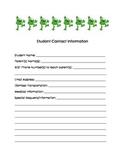 Student Contact Information Form
