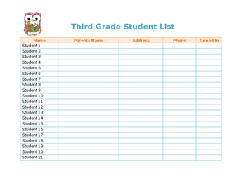 Student Contact List