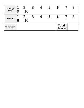 Student Contest Judging Form