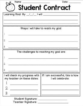 Student Contract: Academic Goal