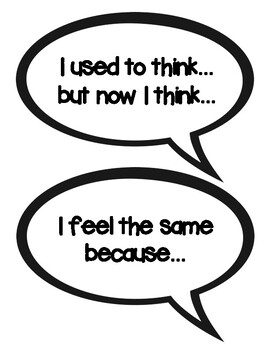 Student Conversation Sentence Starters