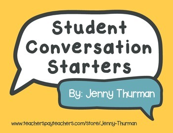 Student Conversation Starters