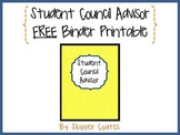 Student Council Advisor--FREE Binder Printable
