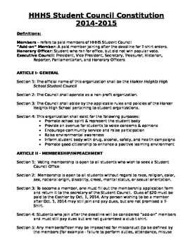 Student Council Advisor Packet