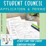 Student Council Application and Forms
