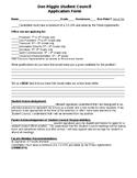 Student Council Application Form