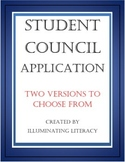 Student Council Application - Two versions