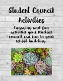 Student Council Activities + Assignments growing bundle!