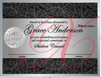 Student Council Award