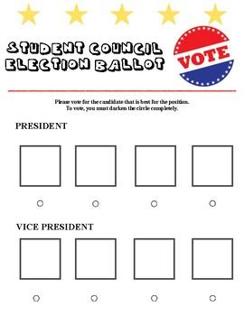 Student Council Ballot