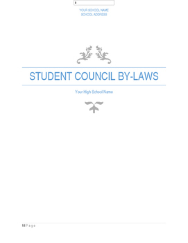 Student Council By Laws