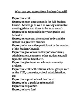 Student Council Campaign Packet