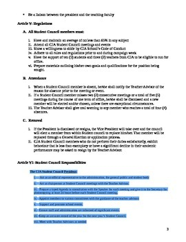 Student Council Constitution