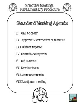 Student Council: Effective Meetings