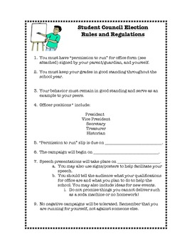 Student Council Election Packet