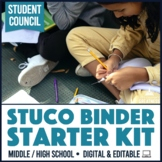 Student Council Government Starter Kit Binder Fully Editable