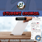 Student Council -- Fraction & Pie Chart - 21st Century Math Project