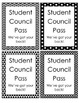 Student Council Hall Passes