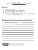 Student Council Homeroom Application