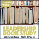 Leadership Book Study Project with Dialectic Journal, Infographic & Review Slip