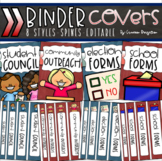 Student Council Leadership Government Binder Covers and Spines Editable