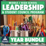 Leadership Student Council Course Bundle Middle or High School