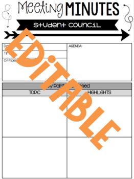 Student Council Materials