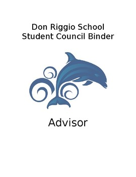 Student Council Officer Binder Cover