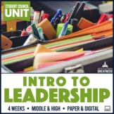 Intro to Leadership or Student Council PBL Unit Print & Digital #LCG