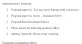 Student Council Proposal Form