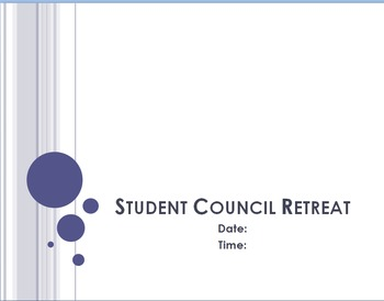 FREE - Student Council Retreat Pkg (Parent Letters, Schedule, and Powerpoint)