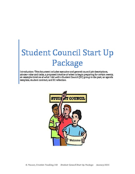 FREE - Student Council Resources